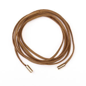 Leather Bracelet with 14kt Sleevers