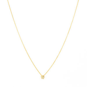 Yellow Gold Necklace with Diamond Star